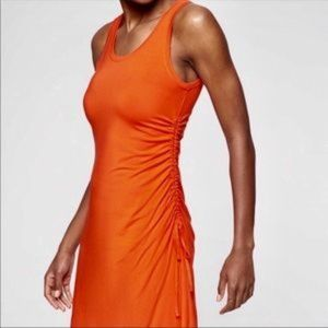 Athleta Ruched sides dress